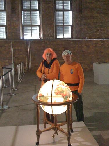 Astronauten von Saardreck besuchen die Ausstellung